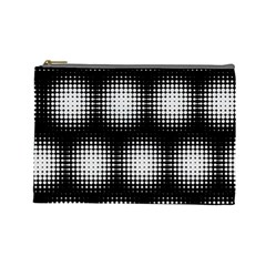 Black And White Modern Wallpaper Cosmetic Bag (large)