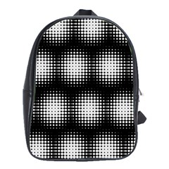 Black And White Modern Wallpaper School Bags(large)