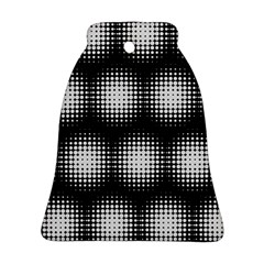 Black And White Modern Wallpaper Bell Ornament (two Sides)