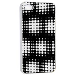 Black And White Modern Wallpaper Apple iPhone 4/4s Seamless Case (White)