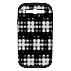 Black And White Modern Wallpaper Samsung Galaxy S III Hardshell Case (PC+Silicone)