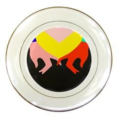 Ring Finger Romantic Love Porcelain Plates