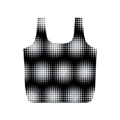 Black And White Modern Wallpaper Full Print Recycle Bags (S)