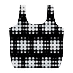 Black And White Modern Wallpaper Full Print Recycle Bags (L)