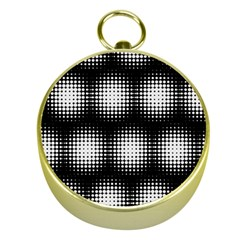 Black And White Modern Wallpaper Gold Compasses
