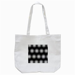 Black And White Modern Wallpaper Tote Bag (White)