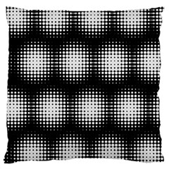 Black And White Modern Wallpaper Large Flano Cushion Case (One Side)
