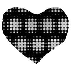 Black And White Modern Wallpaper Large 19  Premium Flano Heart Shape Cushions