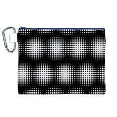 Black And White Modern Wallpaper Canvas Cosmetic Bag (XL)