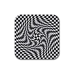 Whirl Rubber Square Coaster (4 pack)
