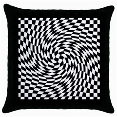 Whirl Throw Pillow Case (Black)