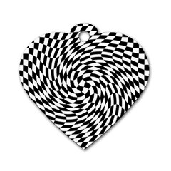 Whirl Dog Tag Heart (one Side)
