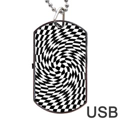 Whirl Dog Tag Usb Flash (two Sides)