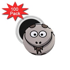 Goat Sheep Animals Baby Head Small Kid Girl Faces Face 1 75  Magnets (100 Pack)
