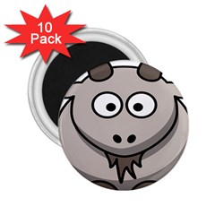 Goat Sheep Animals Baby Head Small Kid Girl Faces Face 2 25  Magnets (10 Pack)