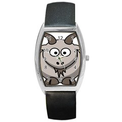 Goat Sheep Animals Baby Head Small Kid Girl Faces Face Barrel Style Metal Watch