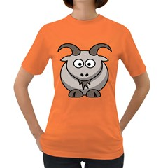 Goat Sheep Animals Baby Head Small Kid Girl Faces Face Women s Dark T Shirt