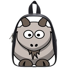 Goat Sheep Animals Baby Head Small Kid Girl Faces Face School Bags (small)