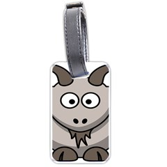 Goat Sheep Animals Baby Head Small Kid Girl Faces Face Luggage Tags (one Side)