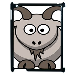 Goat Sheep Animals Baby Head Small Kid Girl Faces Face Apple Ipad 2 Case (black)