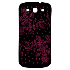 Floral Pattern Background Samsung Galaxy S3 S III Classic Hardshell Back Case