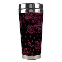 Floral Pattern Background Stainless Steel Travel Tumblers