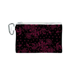 Floral Pattern Background Canvas Cosmetic Bag (S)