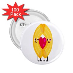 Say Pasta Love 2 25  Buttons (100 Pack)