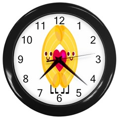 Say Pasta Love Wall Clocks (black)