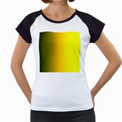 Yellow Gradient Background Women s Cap Sleeve T