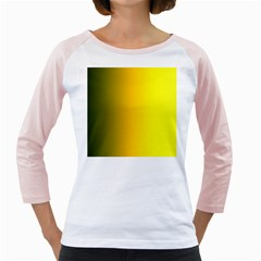 Yellow Gradient Background Girly Raglans