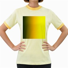 Yellow Gradient Background Women s Fitted Ringer T Shirts