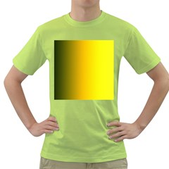 Yellow Gradient Background Green T Shirt
