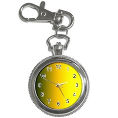 Yellow Gradient Background Key Chain Watches