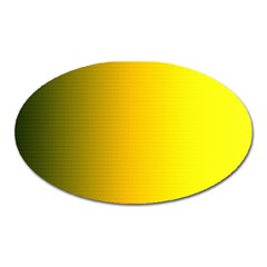 Yellow Gradient Background Oval Magnet