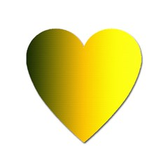 Yellow Gradient Background Heart Magnet