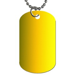 Yellow Gradient Background Dog Tag (one Side)