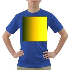 Yellow Gradient Background Dark T Shirt