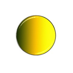 Yellow Gradient Background Hat Clip Ball Marker (4 Pack)