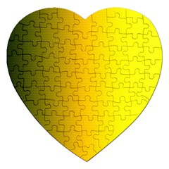 Yellow Gradient Background Jigsaw Puzzle (heart)