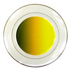 Yellow Gradient Background Porcelain Plates