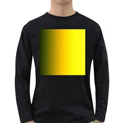 Yellow Gradient Background Long Sleeve Dark T Shirts