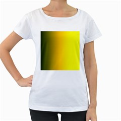 Yellow Gradient Background Women s Loose-Fit T-Shirt (White)