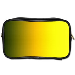 Yellow Gradient Background Toiletries Bags 2 Side