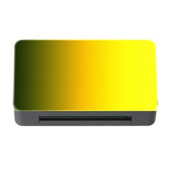 Yellow Gradient Background Memory Card Reader with CF