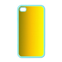 Yellow Gradient Background Apple Iphone 4 Case (color)