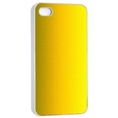 Yellow Gradient Background Apple iPhone 4/4s Seamless Case (White)