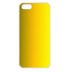 Yellow Gradient Background Apple iPhone 5 Seamless Case (White)