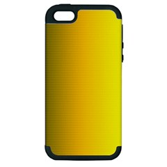 Yellow Gradient Background Apple iPhone 5 Hardshell Case (PC+Silicone)