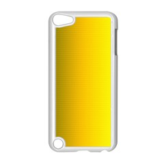 Yellow Gradient Background Apple iPod Touch 5 Case (White)